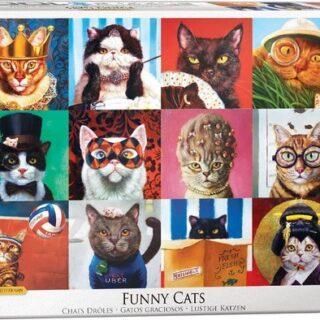 puzzel grappige katten